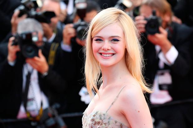Elle Fanning attends the 70th Anniversary of the 70th annual Cannes Film Festival at Palais des Festivals on May 23, 2017 in Cannes, France. (Photo by Chris Jackson/Getty Images)