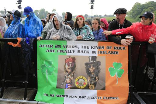 Fans in the pit at the Guns N' Roses concert in Slane Castle, Slane, Co Meath. Picture Newsfile | Fran Caffrey