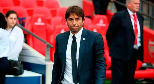 Chelsea manager Antonio Conte appears dejected after the final whistle