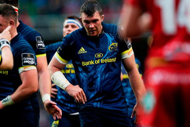 Munsters' Peter O'Mahony during the Guinness Pro12 final at the Aviva Stadium. Photo: PA Wire