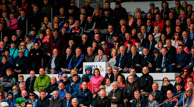 A cross-section of the great and the good of Ireland was captured by photographer Ray McManus at the Cork v Tipperary match in Thurles last Sunday. Photo: Sportsfile