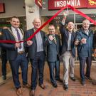 OPEN for business: From left, Brian Cody, Jim Power, Bobby Kerr, Willie Duggan and Mick Galwey at the opening of the Insomnia coffee shop in Kilkenny