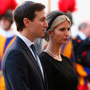 Red flags: Jared Kushner and Ivanka Trump at the Vatican. Photo: Reuters