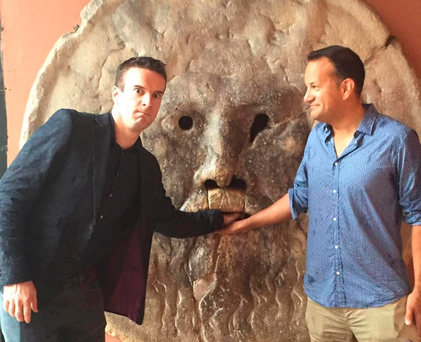 Leo Varadkar with boyfriend Matt