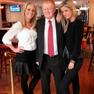 Publican Charlie Chawke with his daughters Ali Chawke (left) and Jenny Chawke (right)