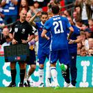 Chelsea's Cesc Fabregas comes on as a substitute yesterday