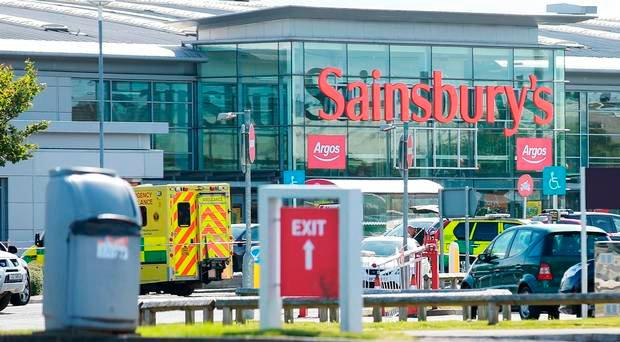The incident happened at Sainsburys in Co Down