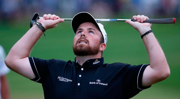 Ireland's Shane Lowry looks dejected at the end of his final round