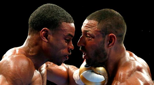 England's Kell Brook in action during his defeat against Errol Spence in Sheffield on Saturday. Photo: Andrew Couldridge/Action Images via Reuters
