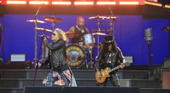 Guns N' Roses on stage at Slane. Picture: Fran Caffrey