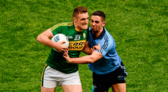 Kerry's Brendan O'Sullivan in action against Dublin's James McCarthy during the 2016 National Football League final. Photo: Sportsfile