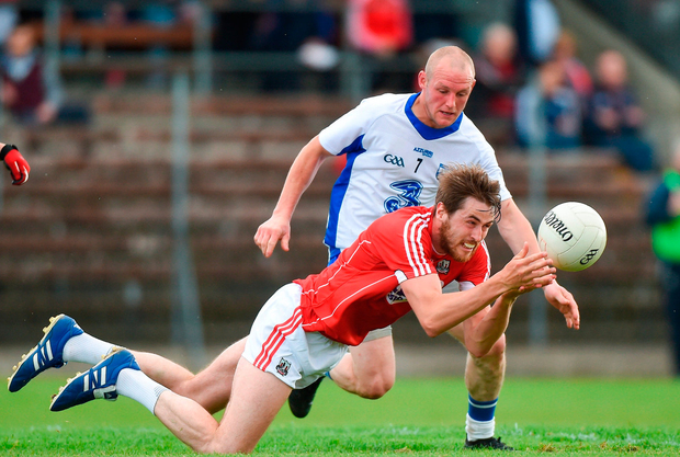 Cork's Michael O'Leary in action against Waterford's Darren Guiry. Photo: Matt Browne/Sportsfile