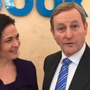 Facebook COO Sheryl Sandberg and Taoiseach Enda Kenny