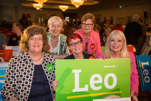 At the Fine Gael hustings at the Clayton Silver Springs Hotel in Cork last night were, far left: Senator Maria Byrne, Una Gillespie, Ann Strain, Cllr Eithne Loftus and Jobs Minister Mary Mitchell O'Connor Photo: Colin O'Riordan