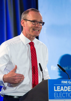 Simon Coveney pictured at hustings in Cork last night. Picture: Colin O'Riordan