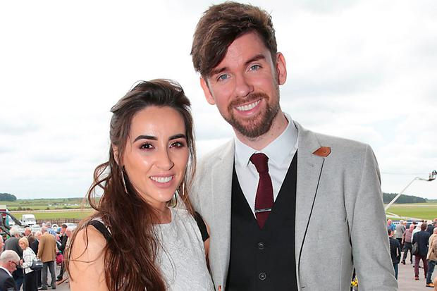 Aoife Melia and Eoghan McDermott at the Killashee Irish Tatler Style Icon competition at The 1000 Guineas at the Curragh Racecourse in Kildare. Picture: Brian McEvoy