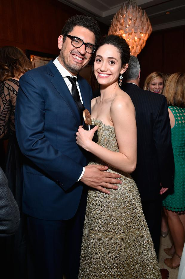 Sam Esmail and Emmy Rossum attend The 75th Annual Peabody Awards Ceremony at Cipriani Wall Street on May 20, 2016 in New York City. (Photo by Mike Coppola/Getty Images for Peabody Awards)