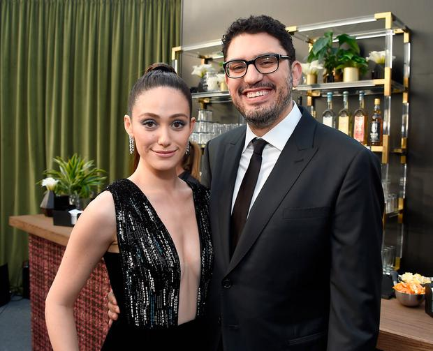 Actress Emmy Rossum (L) and producer Sam Esmail attend The 22nd Annual Critics' Choice Awards at Barker Hangar on December 11, 2016 in Santa Monica, California. (Photo by Matt Winkelmeyer/Getty Images for The Critics' Choice Awards)