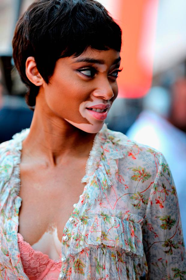 Supermodel Winnie Harlow on the grid during the Monaco Formula One Grand Prix at Circuit de Monaco on May 28, 2017 in Monte-Carlo, Monaco. (Photo by Mark Thompson/Getty Images)