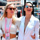 Spanish race car driver Carmen Jorda and Brazilian model Adriana Lima (R) arrive at the Monaco street circuit, on May 28, 2017 in Monaco, ahead of the Monaco Formula 1 Grand Prix. / AFP PHOTO / Andrej ISAKOVICANDREJ ISAKOVIC/AFP/Getty Images