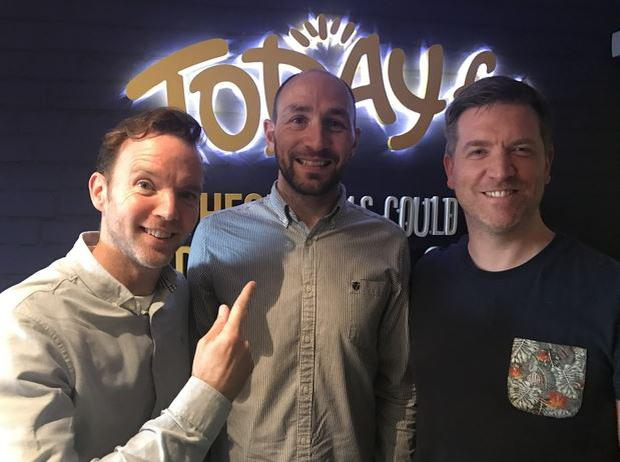John Lynders with Dermot and Dave at Today FM
