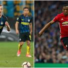 Ivan Perisic (left) and Anthony Martial (right).