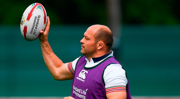 Rory Best has a real shot at being the starting Test hooker in New Zealand. Photo by Ramsey Cardy/Sportsfile
