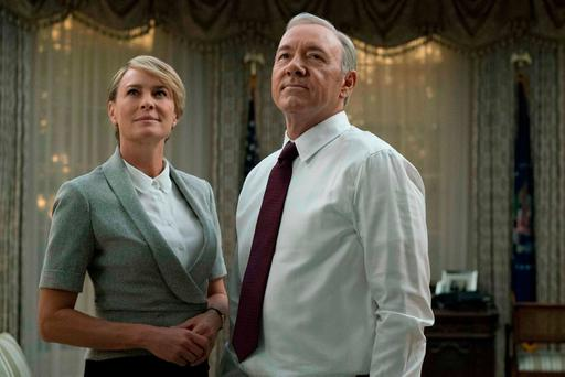 Robin Wright and Kevin Spacey as Claire and Frank Underwood in season 5 of 'House of Cards'