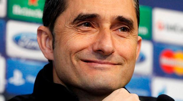 Ernesto Valverde has been named as the new head coach of Barcelona. Photo: Heino Kalis/Reuters
