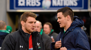 Dan Biggar, left, and Jonathan Sexton