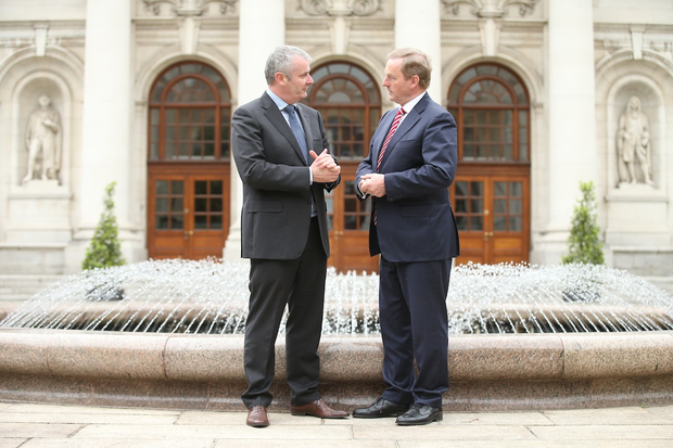 Ger Brennan, Managing Director for Human Health at MSD Ireland, and An Taoiseach, Enda Kenny TD.