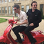 Bono and Noel Gallagher celebrating Noel's 50th birthday. Image:Twitter
