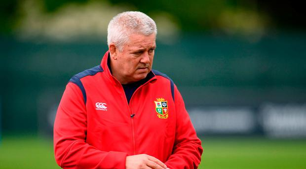 British and Irish Lions head coach Warren Gatland during squad training at Carton House in Maynooth, Co Kildare. Photo by Sam Barnes/Sportsfile
