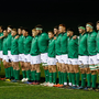 11 March 2017; The Ireland team line up ahead of the RBS U20 Six Nations Rugby Championship match between Wales and Ireland at Parc Eirias in Colwyn Bay, Wales. Photo by Simon Bellis/Sportsfile