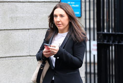 Sarah Gibson, mother of Martin Gibson (6yrs), pictured leaving the Four Courts yesterday after an interim settlement of €788,000 was approved by the High Court on behalf of Martin. Pic: Collins Courts