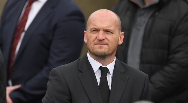 21 October 2016; Glasgow Warriors head coach Gregor Townsend arrives for the funeral of Munster Rugby head coach Anthony Foley at the St. Flannans Church, Killaloe, Co Clare. The Shannon club man, with whom he won 5 All Ireland League titles, played 202 times for Munster and was capped for Ireland 62 times, died suddenly in Paris on November 16, 2016 at the age of 42. Photo by Brendan Moran/Sportsfile