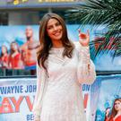 Priyanka Chopra poses at the 'Baywatch' Photo Call at Sony Centre on May 30, 2017 in Berlin, Germany. (Photo by Andreas Rentz/Getty Images for Paramount Pictures)