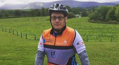 Frank before this year's Wicklow Mountains Cycle Challenge in aid of St. James' Hospital physiotherapy department.