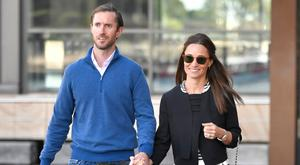 Pippa Middleton and new husband James Matthews are seen getting on a water taxi in Sydney harbour during their honeymoon. Picture: Splash News