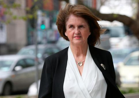 Joan Burton had attended a graduation ceremony. Photo: Collins