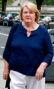 Marie Meehan leaving the High Court yesterday. Photo: Courtpix
