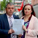 Independent Alliance TD Kevin 'boxer' Moran with Debbie Cole. Photo: Tom Burke