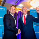 Leo Varadkar (left) and Simon Coveney. Photo: Arthur Carron.