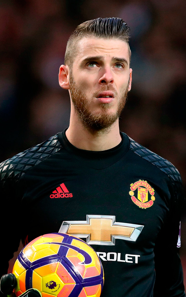 United keeper David de Gea. Photo: PA Wire