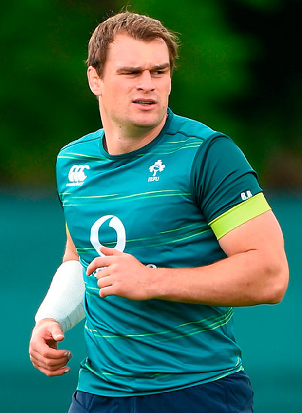 Ireland's Rhys Ruddock during squad training at Carton House, Maynooth yesterday. Photo: Sportsfile