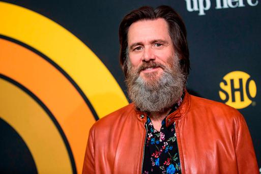 Actor Jim Carrey attends the premiere of Showtime's