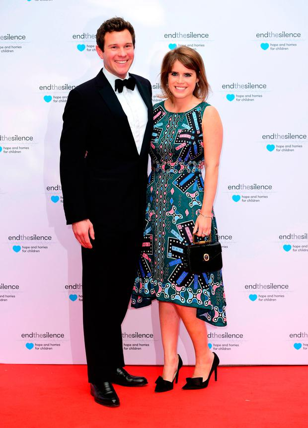 Princess Eugenie of York and Jack Brooksbank attending the End the Silence Charity Fundraiser at Abbey Road Studios, London