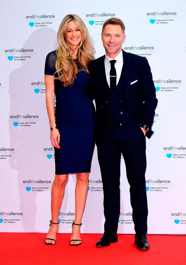 Ronan Keating and Storm Keating attending the End the Silence Charity Fundraiser at Abbey Road Studios, London