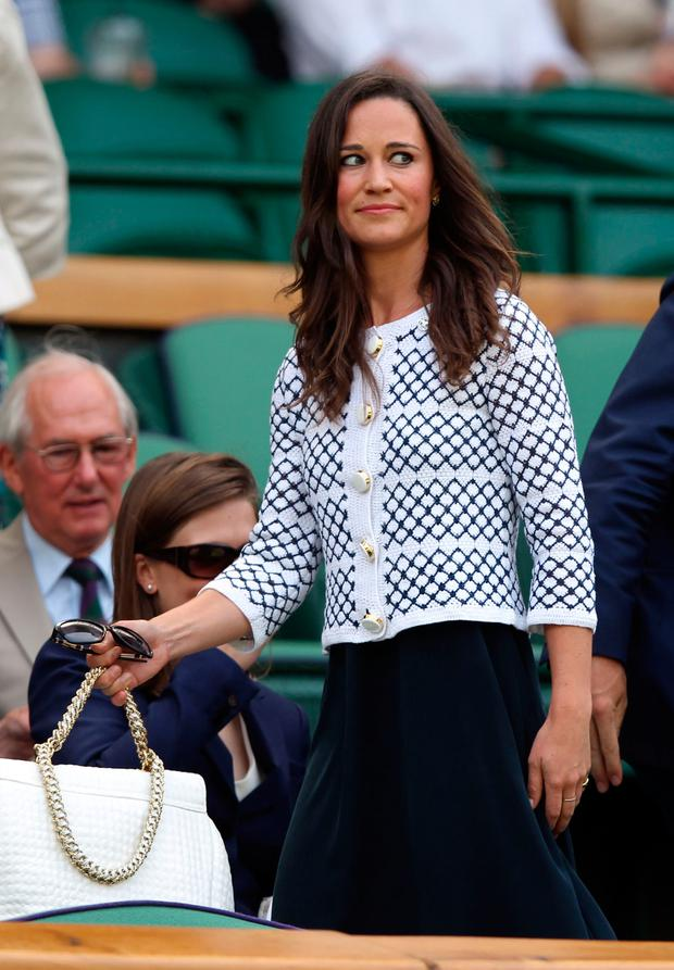 Pippa Middleton at Wimbledon in 2012 wearing Orla Kiely