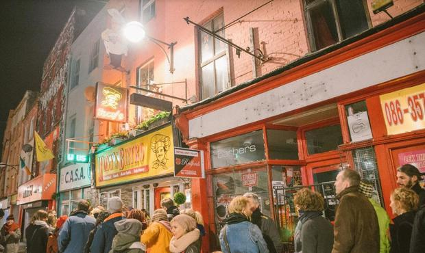 The queue outside Tony's Bistro in Cork